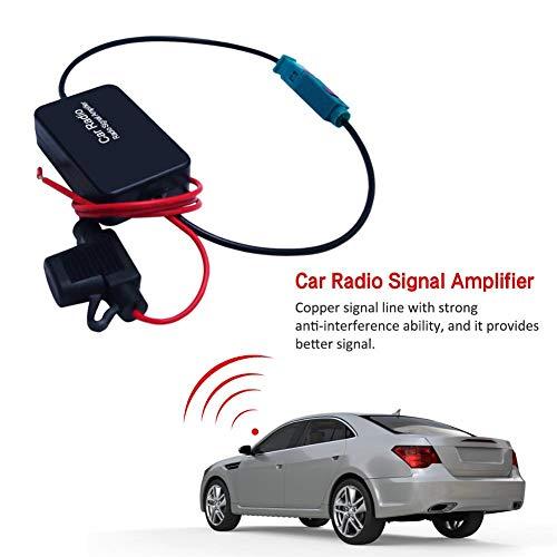kingpo Finelyty Fahrzeug-Autoradio-Signalverstärker Mit FAKRA II-Schnittstelle, Inline-FM-Antennenantennen-Signalverstärker-Radio-Booster Valuable - Fm-booster