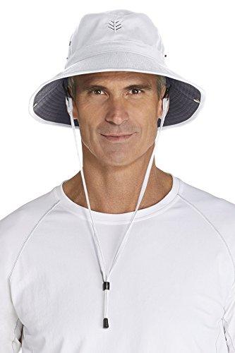 Coolibar Herren UV-Schutz Hut, Weiß, L/XL (59CM)