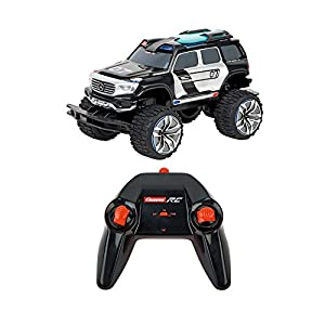 Carrera Toys- RC 2,4GHz Mercedes Benz Ener-G-Force Coche Miniatura de Policia con LED Luz y Sirena, Color Negro (370142030)