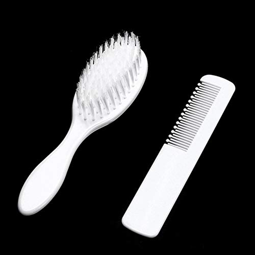 Baby-Haarbürste und Kamm-Set für Neugeborene Kleinkinder Säuglingssicherheits-Gesundheitspflege und Pflegeset Kopfhaut-Massage-Kit