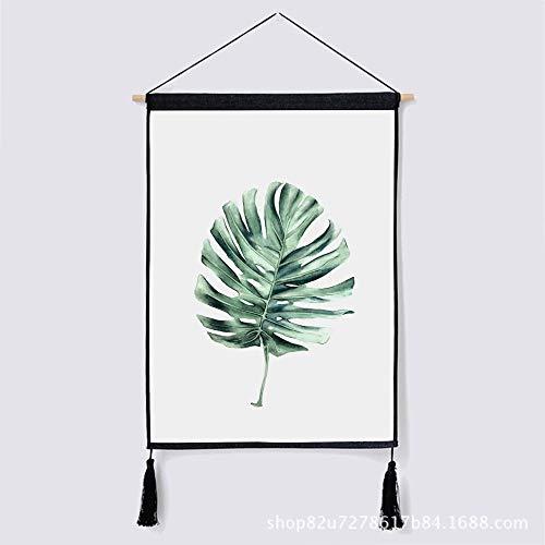 Nordic dekorative Hintergrund wandbehang Tuch Pflanze Baumwolle leinen Kunst malerei Tapisserie q 46 * 65 cm