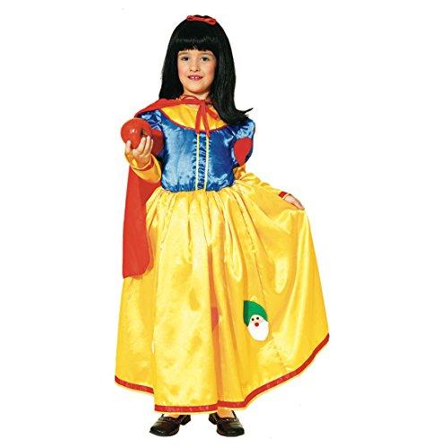 hen Kostüm Kinder Prinzessin Märchen Kleid Märchenprinzessin Kinderkostüm Mädchen Snow White ()