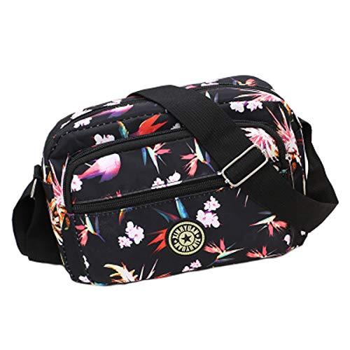 New Fashion Trend Business Tasche wasserdichtem Nylon Umhängetasche Handtasche Mutter Tasche Messenger Bag Stoffbeutel (Phoenix flower, 24 * 7 * 16cm) Phoenix Flower