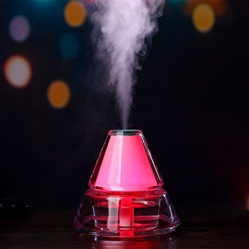 KITCHEN TOOLS Iceberg USB Humidificador Atomizer Luces LED difusor de Aroma purificador de Aire Atomizer Atomizer,Rosa,1