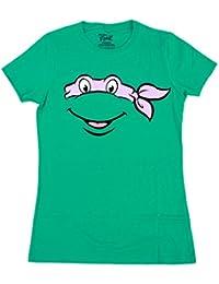 Teenage Mutant Ninja Turtles Big Face Juniors/Ladies T-Shirt