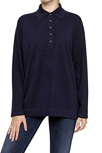Lai La New York Damen Pullover 100% Kaschmir Rollkragenpullover LARISSA Pure Cashmere, Farbe: Dunkelblau, Größe: 46 (York-kaschmir-pullover New)