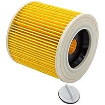 vhbw filtro de cartucho para aspirador robot aspirador multiusos Kärcher MV 3 Premium Fireplace KIT, NT27/1, SE 4001, SE 4002, VC6000, WD 2.200