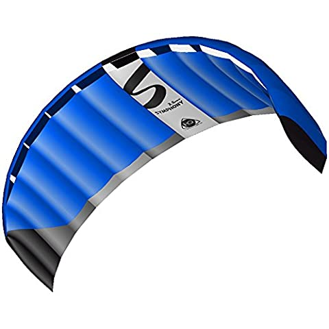 HQ Powerkites Symphony Pro 2.5 Aile de kitesurf Bleu Néon