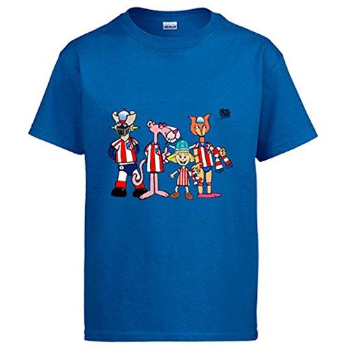 Camiseta Atlético de Madrid el atleti de los 80 - Azul Royal, XXL