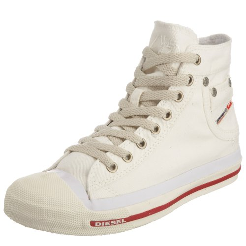 Diesel Damen Magnete Exposure Mid High-Top, Weiß T1002, 37 EU