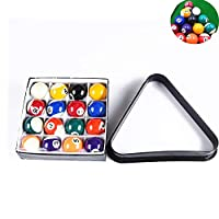 Mini Billiards Pool Ball Set, 1.5in Miniature Pool Balls, Complete 16 Balls for Pool Tables, with Triangle Rack, for home pool table, community center