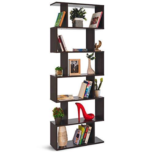 COMIFORT - Estantería Librería Decorativa Moderna Y De Diseño, Cuatro Acabados, Medidas 192 x 70 x 23,5 cm (WENGUE)