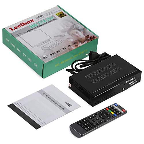 41JocL8wiuL - Decodificador TDT Terrestre - Leelbox Digital TV HD Euroconector Sintonizador Receptor DVB T2 Tuner Full HD / HD Ready / 1080P / H.264 / MPEG / Dolby / Multimedia (DVB T2, PVR, SCART)