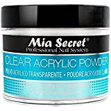 Mia Secret acrílico Nail Art polvo, 60 ml, transparente