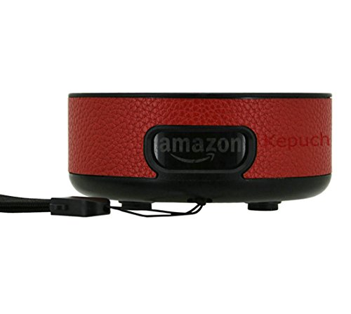 Kepuch Amazon Echo Dot 2 Hülle - Shell Schutzhülle PU Tasche Smart Case Cover für Amazon Echo Dot 2 - Rot