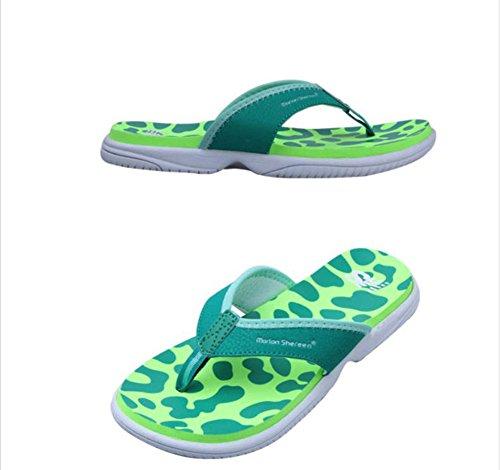 Flip-folps Happy Lily ergonomique antidérapant Semelle Chaussures de piscine Y String Sandales à bout ouvert pour l'intérieur ou extérieur Chaussures décontracté Chaussures Chaussons pour femme green