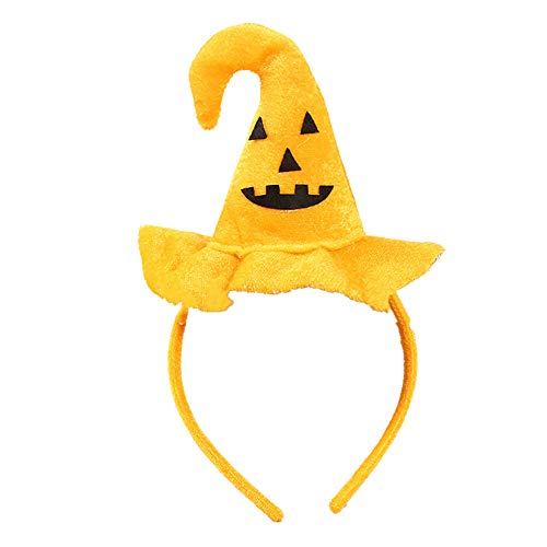 Kinder-Halloween-Stirnband-Hexe-Kürbis-Schläger-Spinne für Cosplay oder Halloween Party Supplies (1PC, Kürbis Smiley)