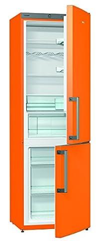 Gorenje RK 6192 EO Kühl-Gefrier-Kombination / A++ / Höhe 185 cm / Kühlen 229 L / Gefrieren: 95 L / Orange / FrostLess / CrispZone / Colour Edition