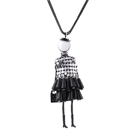 MESE London Puppe Halskette Damen Einzigartige Mode-Anhänger - Elegante (Uk Schmuck Ungewöhnlicher Kostüm)