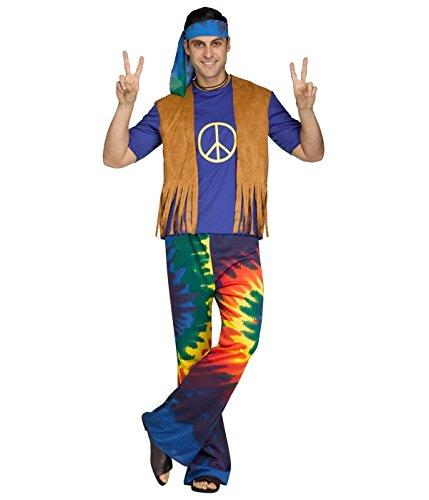 ancy Dress Hippy 1960s 1970s Peace Adults Costume Outfit New (60s 70s Fancy Dress Kostüme)
