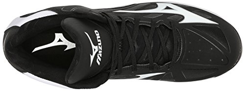 Mizuno 9-Spike Adv.Franchise 8 Mid Synthétique Baskets Black-White