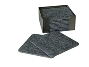 filzuntersetzer 100 x100 mm grau meliert k che haushalt. Black Bedroom Furniture Sets. Home Design Ideas