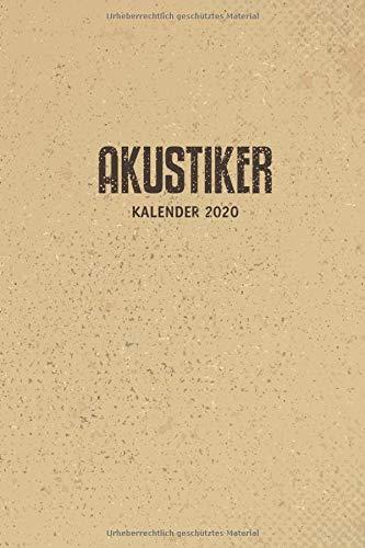 Akustiker Kalender 2020: 52 Wochen Organizer im A5 Format | Terminkalender | Planer  Dankebuch | Wochen Planer Notizbuch | Geschenk