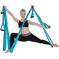 Yoga Swing Hängematte Fitness Übungen Trapez Inversion Schaukel Tuch 5x2.8M Gold
