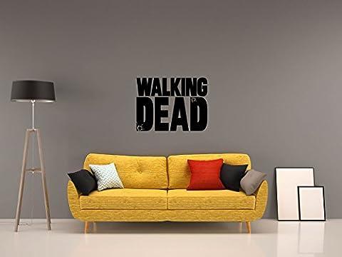 THE WALKING DEAD - LOGO - Schwarz - ca. 80 x 60 cm