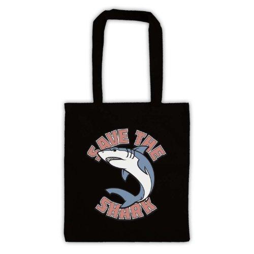 Salvare il squalo slogan stile borsa Black