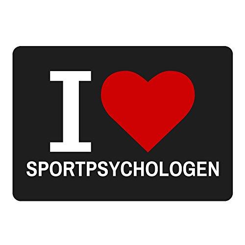 Mousepad Classic I Love Sportpsychologen schwarz
