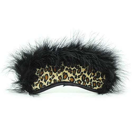 Shiduoli Máscara para los Ojos de los Productos para la Salud para Adultos Estampado de Leopardo Máscara para los Ojos con Estampado Divertido (Color : Leopard)