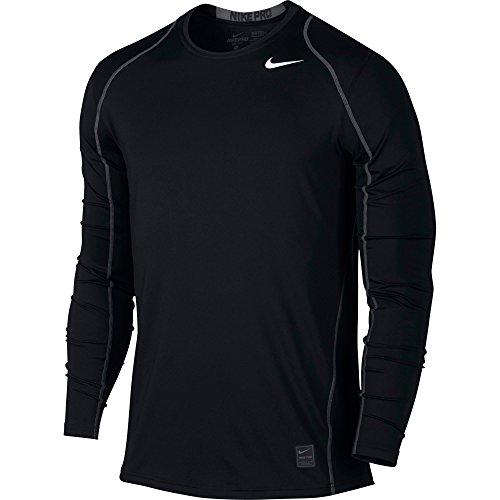 Nike M Np Hprwm Top Fttd Ls-Maglietta a maniche lunghe da uomo Nero/grigio scuro / bianco