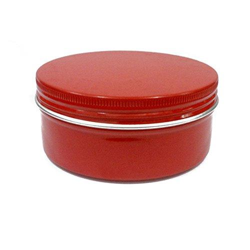 3 Pcs 150 ml/141,7 gram rond Rouge Aluminium Nail Art Baume à lèvres Maquillage Pot Peut Bouteille avec couvercle à visser DIY Crème Cosmétique Container Pot Tin portables produits de beauté