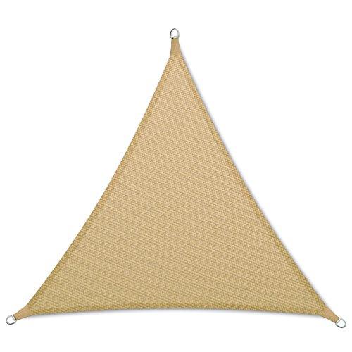 casa pura Sonnensegel Wasserabweisend imprägniert | Dreieck gleichseitig | Testnote 1.4 | UV Schutz | Verschiedene Farben und Größen (Sandfarben, 3x3x3m)