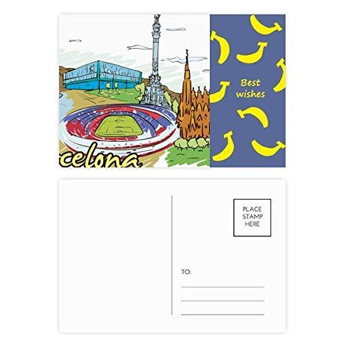 Tamaño: 14,6 cm x 9,8 cm / 5,7 pulgadas x 3,8 pulgadas Característica: -Ofrece líneas para la dirección de correo, caja de sello en la espalda y el espacio para escribir una nota corta. impresión Full-color en ambos lados -Cada paquete viene con un p...