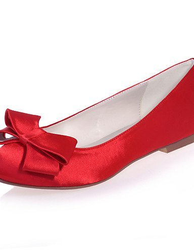 ShangYi Chaussures Femme - Mariage / Soirée & Evénement - Noir / Bleu / Rose / Rouge / Ivoire / Blanc / Argent - Talon Plat - Bout Arrondi - Pink