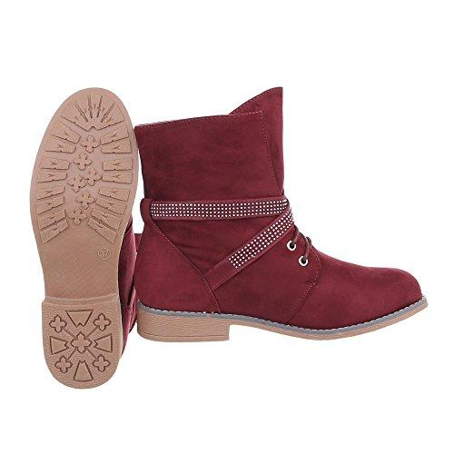 Ital Chaussures Lacet W305 Bloc A Et Femme Bottes Bourgogne Bottines 4w4xqO0vH