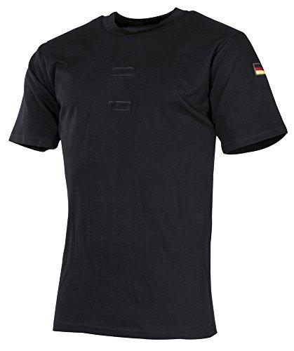 MFH BW Tropenhemd, schwarz, Klett, Nationalitätsabzeichen - 7