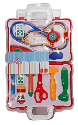 The Toy Company Amia Doktor Koffer mit Zubehör, 12 Teile