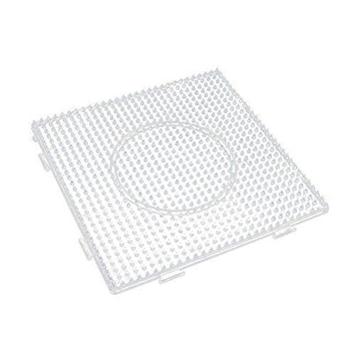 SUPVOX 6 Pezzi Fuse Beads Boards Large Square plastica Trasparente per Pannelli forati Perline Artigianali 5mm