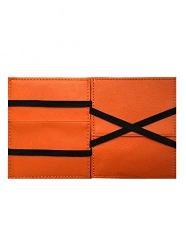 dffe52c891 Vip Flap Portafoglio Porta Carte in Pelle Linea Double Edition  (MARRONE-ARANCIO)