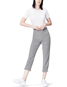 FIND Pantalones de Cuadros Vichy para Mujer