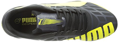 Puma evoSPEED Star IV Leder Turnschuhe Black/Blazing Yellow/Grey