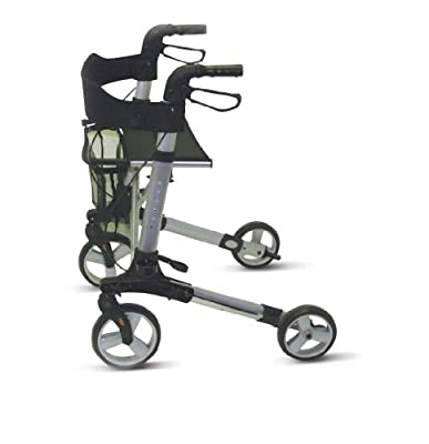 Days Deluxe Lightweight Rollator, Height Adjustable Rollator That Folds for Easy Storage and Transportation