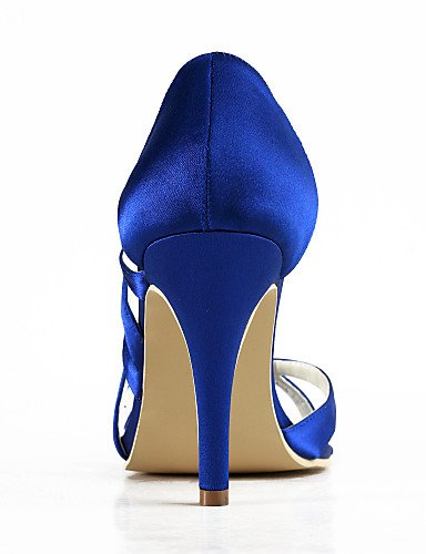 WSS 2016 Chaussures de mariage-Noir / Bleu / Jaune / Rose / Violet / Rouge / Blanc / Argent / Or / Beige / Amande-Mariage / Habillé / Soirée & 3in-3 3/4in-pink