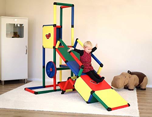 Quadro | Evolution | Klettergerüst für drinnen und draußen | Fördert Entwicklung von Kindern | Beliebig modular & erweiterbar | 6 Jahre Garantie | Ab 1 bis 6 Jahren