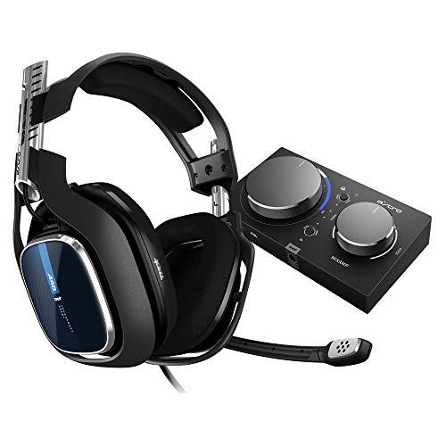 kabelgebundenes PC-Headset + Gaming MixAmp Pro TR Gen 4 Adapter (mit Dolby Audio, kompatibel mit PlayStation 4, PC, Mac) schwarz/blau ()