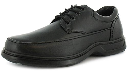 New Mens/Gents Black Lace Up Comfort Fit Casual Shoes. Wider Fitting. -...