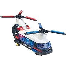 W'TOY - Helicóptero carabineros con pilas, 2 hélices con movimiento misterioso, luces y sonidos (GLOBO 37795)